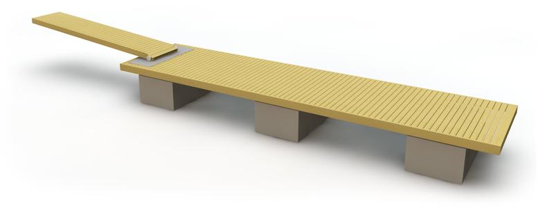 Flytbrygga med betongpontoner 10 m
