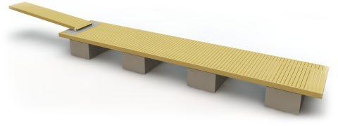 Flytbrygga med betongpontoner 12 m