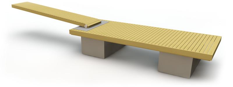 Flytbrygga med betongpontoner 6 m