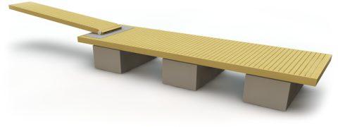 Flytbrygga med betongpontoner 8 m