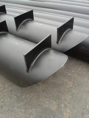 Rörpontoner 45 graders nosning - HF Bryggan